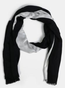 Bielo-čierna dámska šatka Calvin Klein Jeans