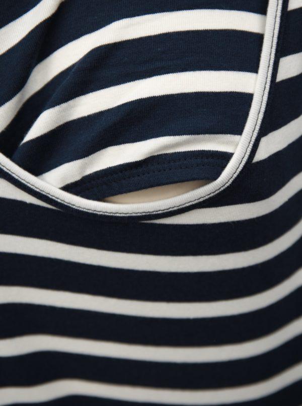 Sada dvoch tehotenských/dojčiacich basic tielok v bielej a modrej farbe Mama.licious Lea