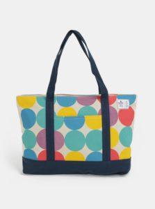 Béžový shopper s farebnými bodkami WOOX Sacculi Iris
