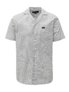 Čierno-biela kockovaná regular fit košeľa Makia