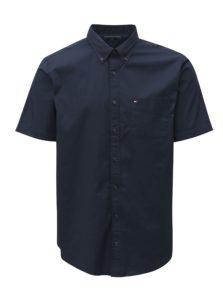 Tmavomodrá pánska košeľa s krátkym rukávom Tommy Hilfiger