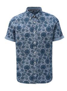 Modrá pánska vzorovaná slim fit košeľa Tommy Hilfiger