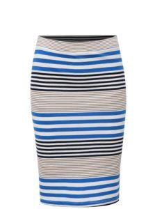 Bielo-modrá pruhovaná puzdrová sukňa Broadway Francelle