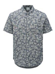 Bielo-modrá kvetovaná košeľa Burton Menswear London
