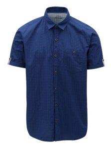 Modrá pánska regular fit košeľa s krátkym rukávom s.Oliver