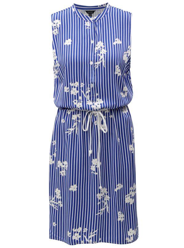 Bielo-modré vzorované šaty bez rukávov Nautica