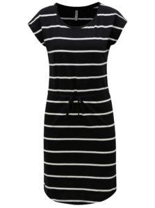 Bielo-čierne pruhované šaty Haily´s Olivia