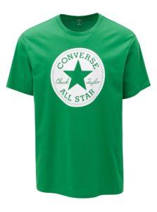 Zelené pánske tričko s potlačou Converse Chuck Patch
