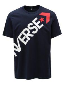 Tmavomodré pánske tričko s potlačou Converse Cross Body