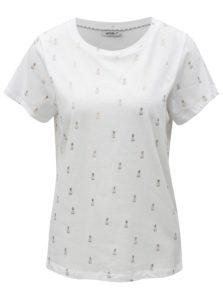 Biele tričko s potlačou ananásov Haily´s Lenya