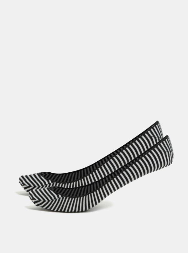Súprava dvoch párov čiernych pruhovaných ponožiek Andrea Bucci First 30 DEN