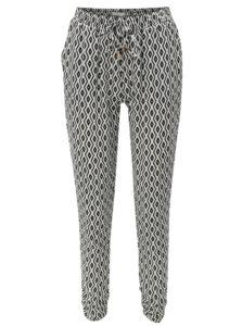 Bielo-čierne vzorované voľné nohavice Haily´s Romy