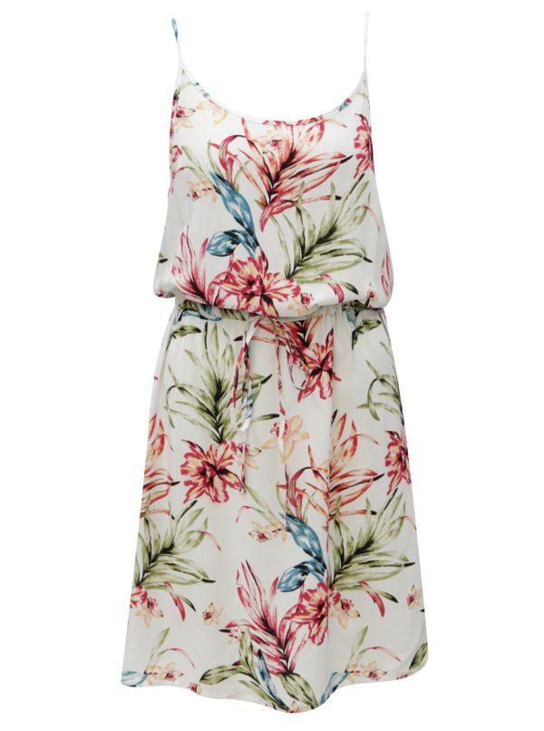 Biele kvetované šaty so zaväzovaním Haily´s Tabea