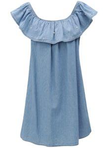 Modré rifľové minišaty s lodičkovým výstrihom Haily´s Parina
