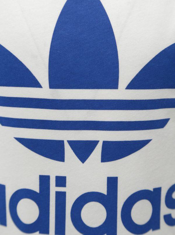Biele chlapčenské tričko s potlačou adidas Originals Trefoil