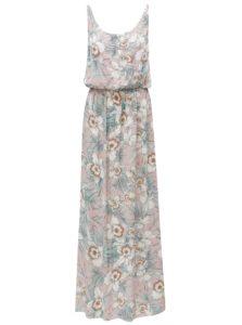 Ružové kvetované maxišaty na ramienka Haily´s Doris