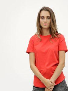 Červené tričko s detaily v zlatej farbe Dorothy Perkins