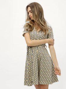 Horčicovo-krémové vzorované šaty s prekladaným výstrihom Dorothy Perkins c542b10316b