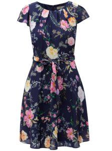 Tmavomodré kvetované šaty Billie & Blossom Petite