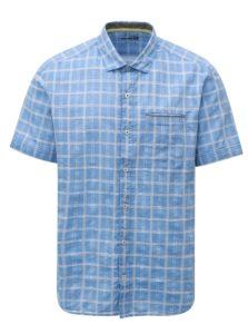 Modrá pánska regular fit vzorovaná košeľa s.Oliver