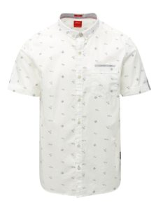 Biela pánska slim vzorovaná košeľa s.Oliver