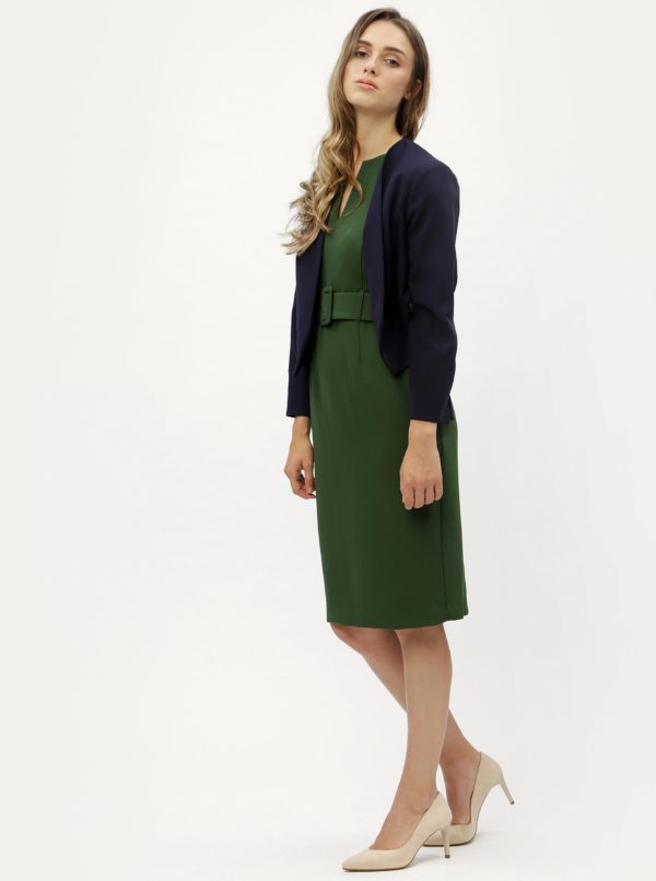 a290705ed308 Zelené puzdrové šaty s opaskom Dorothy Perkins