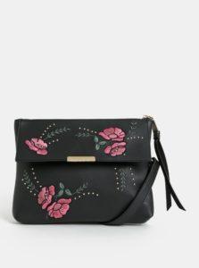 Čierna crossbody kabelka s kvetovanou výšivkou Dorothy Perkins
