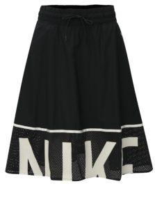 Bielo-čierna sukňa s elastickým pásom Nike Mesh