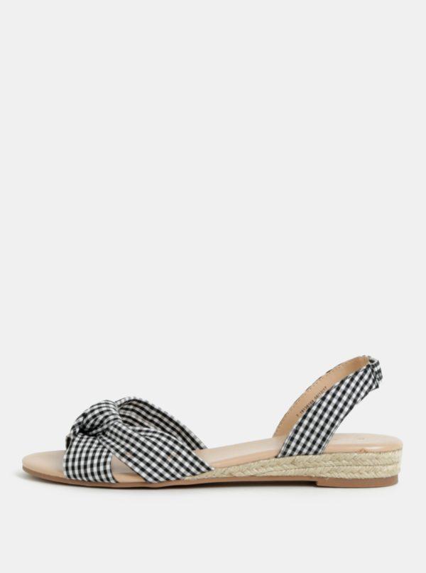 Čierno-biele kockované sandále Dorothy Perkins