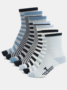 Sada siedmych párov chlapčenských ponožiek v modrej farbe name it Varly