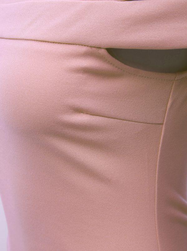 b86c8c4cd7f4 Ružové puzdrové šaty s odhalenými ramenami AX Paris