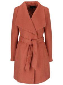Oranžový kabát s opaskom VILA Director