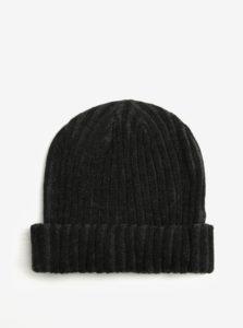 Sivo-čierna dámska rebrovaná čiapka s.Oliver
