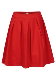 Červená skladaná sukňa Jacqueline de Yong Power