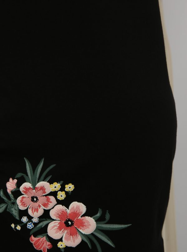 c34de5dd164c Čierne tehotenské tričko s odhalenými ramenami Dorothy Perkins Maternity