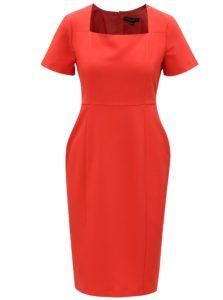 Červené puzdrové šaty s hranatým výstrihom Dorothy Perkins