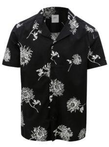Čierna kvetovaná košeľa Burton Menswear London