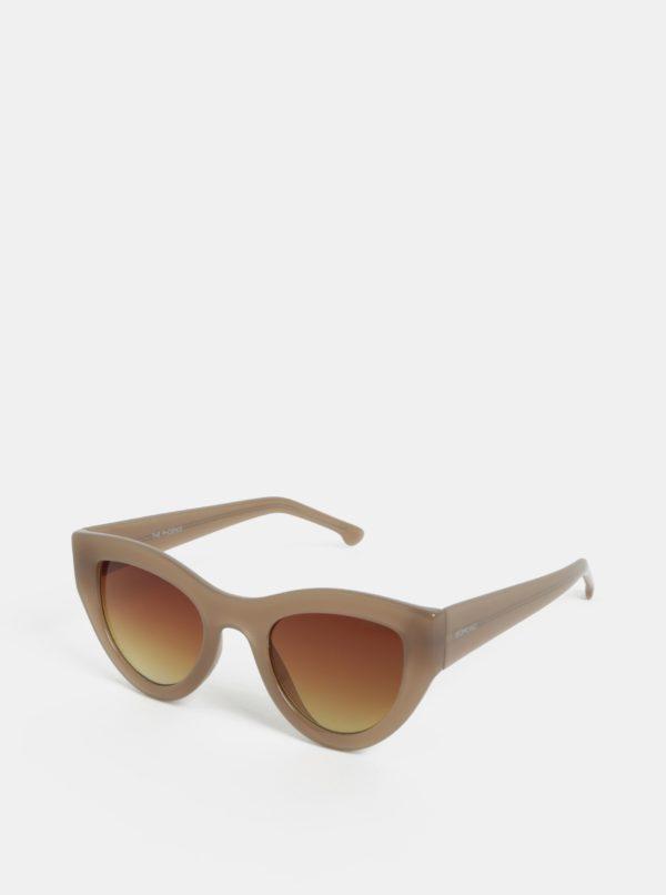 Béžové dámske slnečné okuliare Komono Phoenix