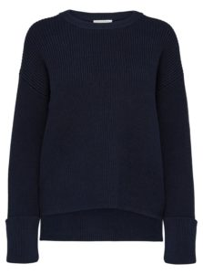 Tmavomodrý sveter Selected Femme