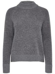 Sivý vlnený sveter Selected Femme