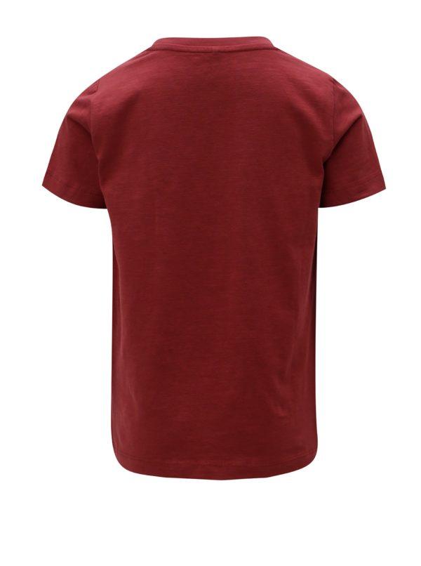 Vínové chlapčenské tričko s potlačou Name it Sripus