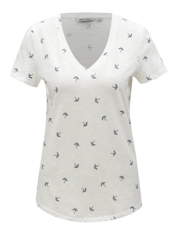 ef0921c85 Biele dámske tričko s motívom paliem Garcia Jeans | Moda.sk
