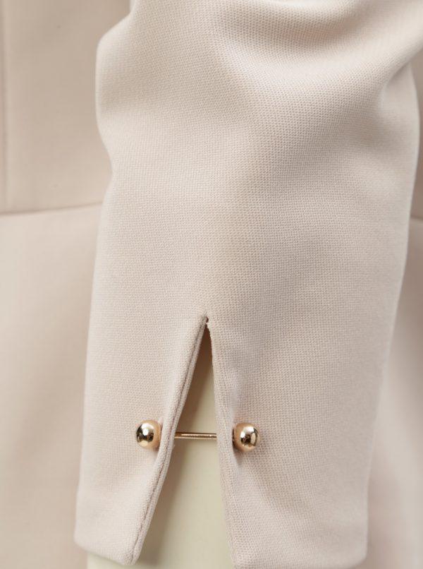 Béžové sako s manžetovými gombíkmi Dorothy Perkins