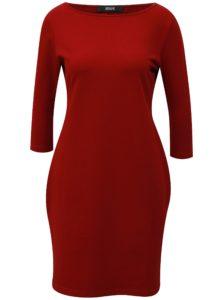 f10ad95298c3 Vínové puzdrové šaty s 3 4 rukávom ZOOT
