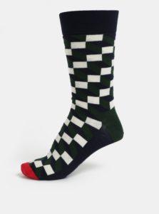 Zeleno-modré pánske ponožky Happy Socks Filled Optic Sock