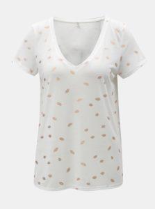 Biele tričko s motívom pier ONLY Isabella