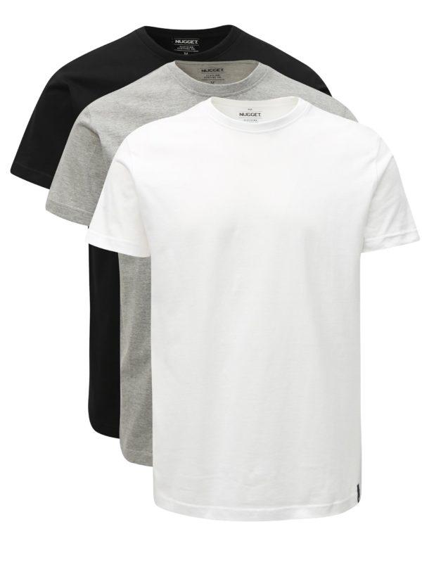 Súprava troch pánskych tričiek s krátkym rukávom NUGGET Scale
