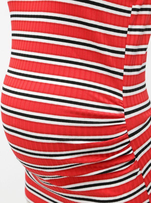 Bielo–červené tehotenské pruhované tielko Dorothy Perkins Maternity