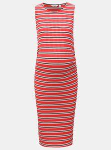 Bielo-červené puzdrové tehotenské šaty Dorothy Perkins Maternity