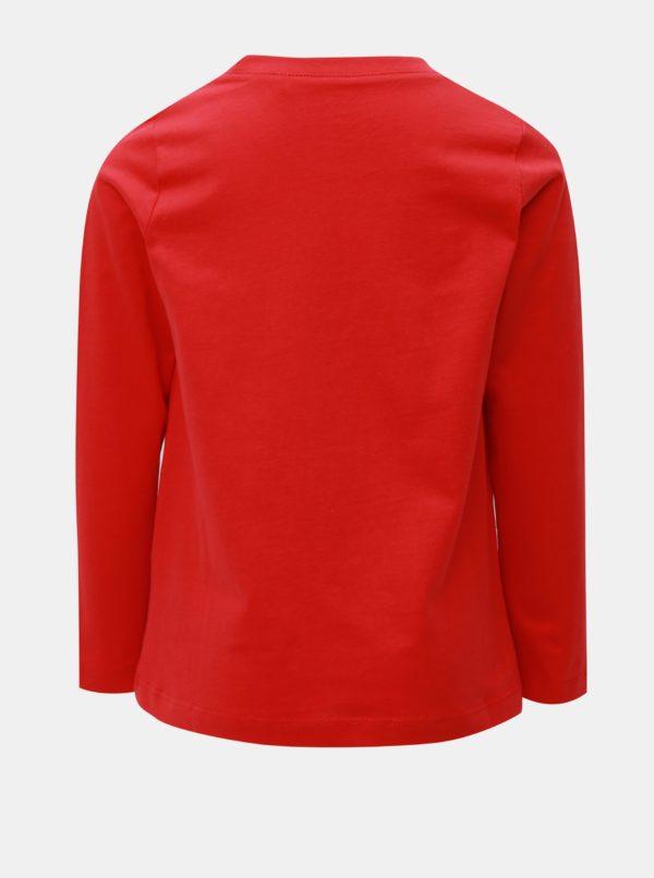 Červené chlapčenské tričko s dlhým rukávom Name it